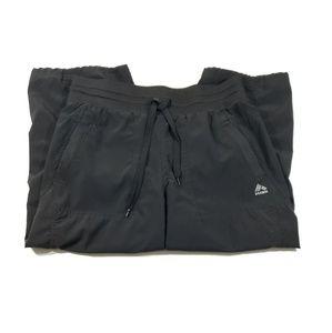 RBX womens solid black crop capri pants size med